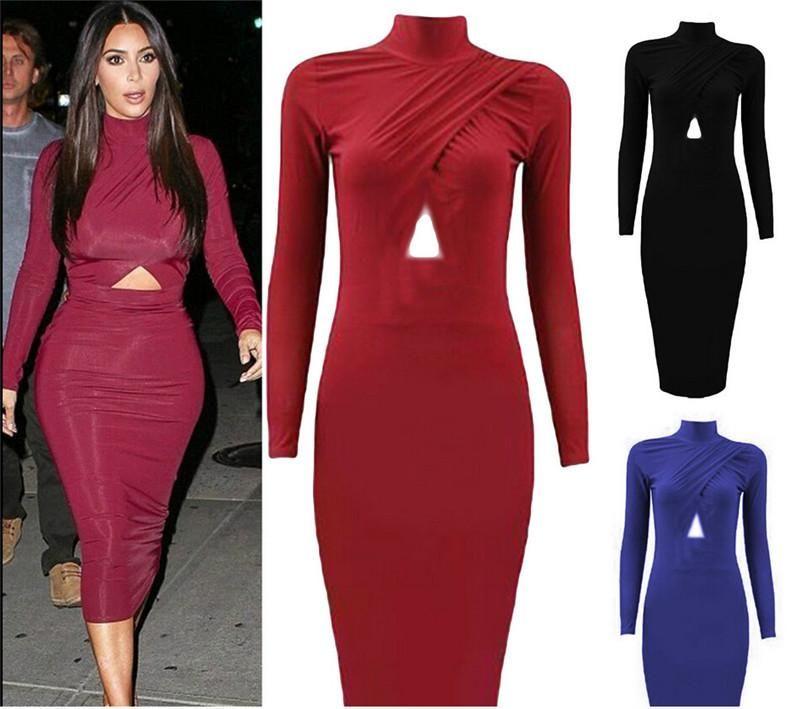 Red dress long sleeve turtleneck