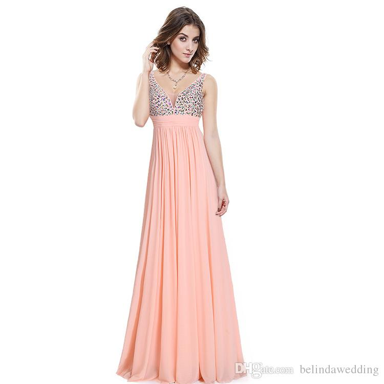2017 Hot Cheap Bridesmaid Dresses Under 50 Tulle Beads Pink Navy ...