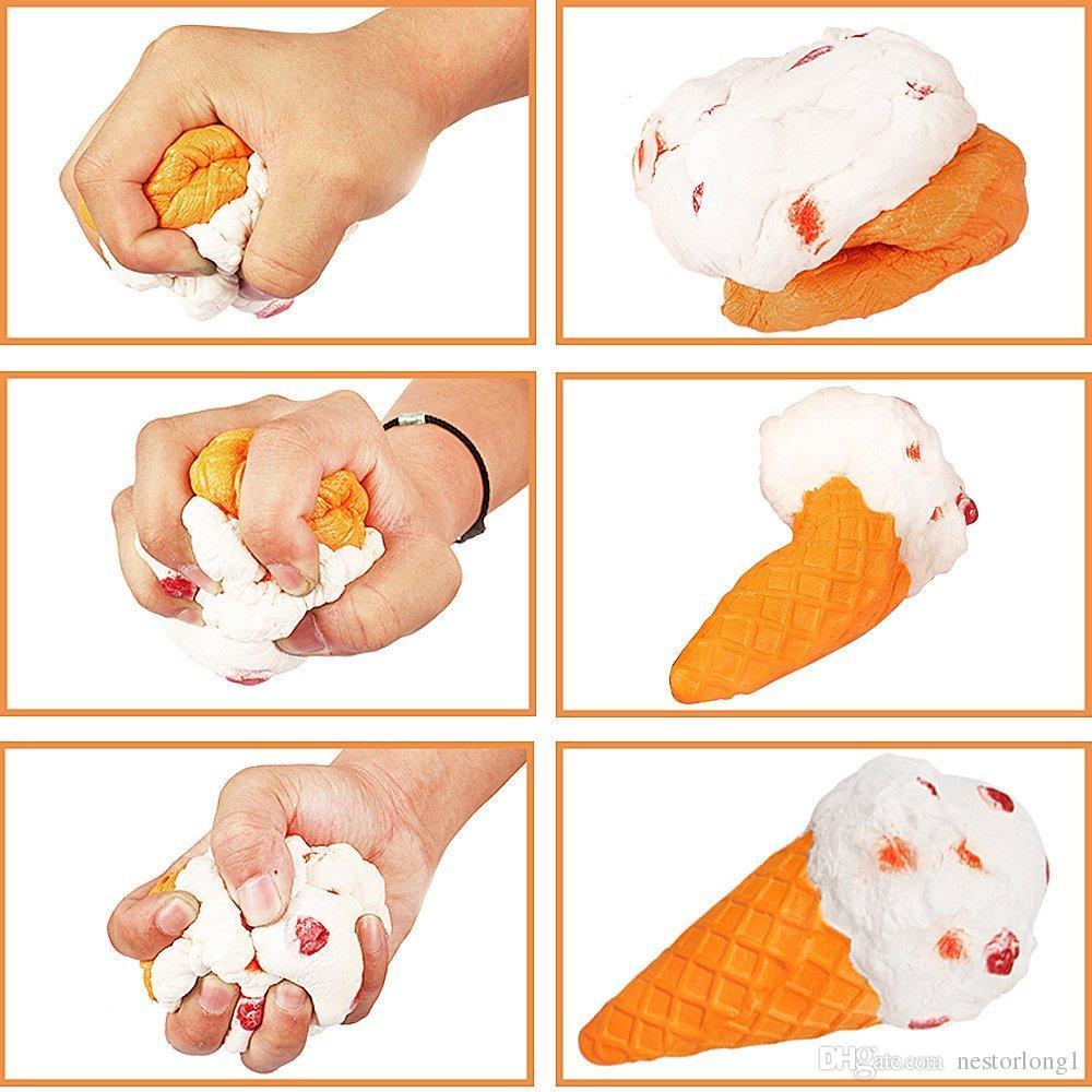 19 см Джамбо мороженое болотистый Каваи Джамбо продукты питания душистые медленно поднимая Squishies игрушки большой Джамбо еда болотистый