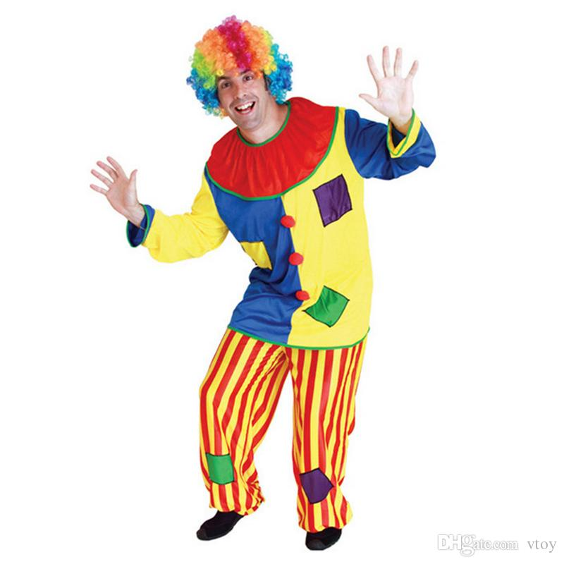 2018 Funny Adult Men Naughty Halloween Costumes Circus Clown Cosplay Performance Uniform Masquerade Carnival Cloth From Vtoy $16.07 | Dhgate.Com  sc 1 st  DHgate.com & 2018 Funny Adult Men Naughty Halloween Costumes Circus Clown Cosplay ...