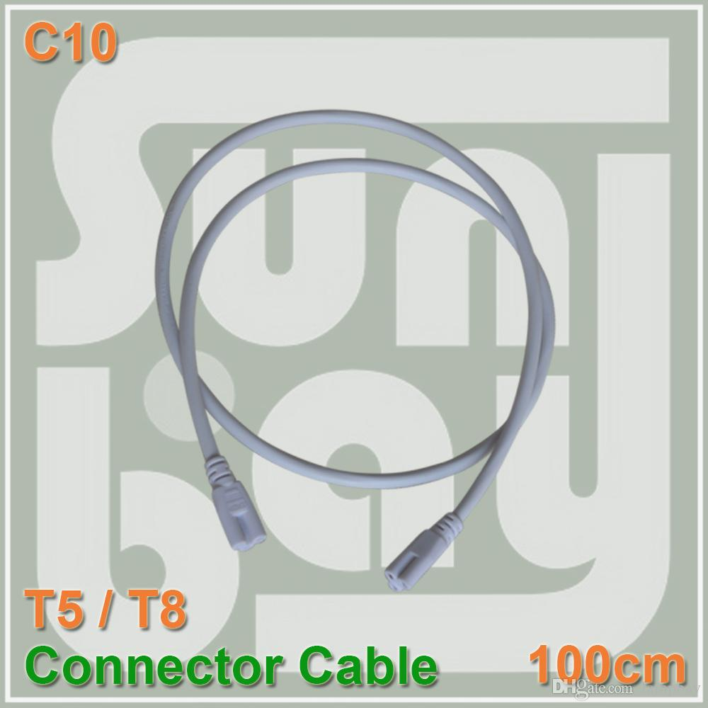 T5 T8 Connnecting Wire 100cm Power Cords Cable Both Side Tube ...