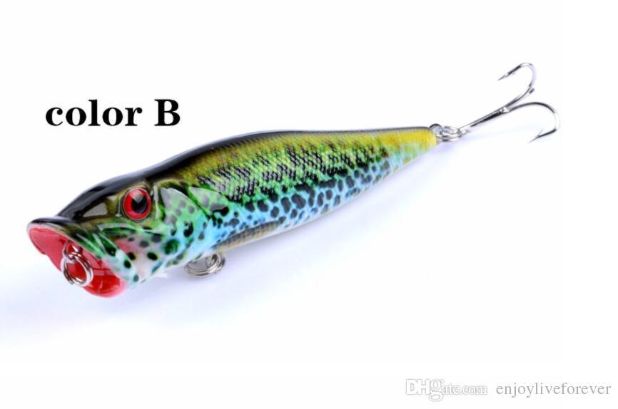 Water Surface Series es Popper cebos señuelo de pesca simulada 9.5cm 12g ABS plástico cebos duros con 6 # ranura de sangre gancho