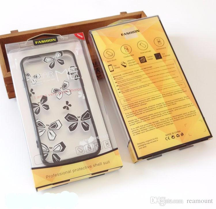 Mobile Phone Bags Wallet Case PVC Plastic Retail Packaging Box For Huawei Mate 9 Cover Case package For Display