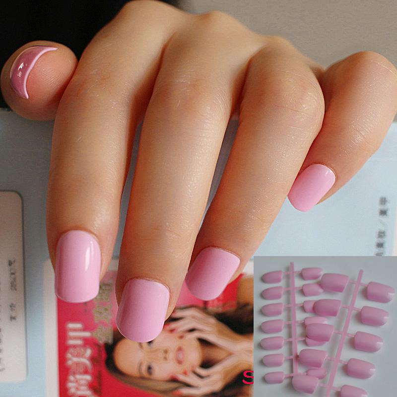Wholesale Of Candy Manicure Finished Lovely Color False Nails Short