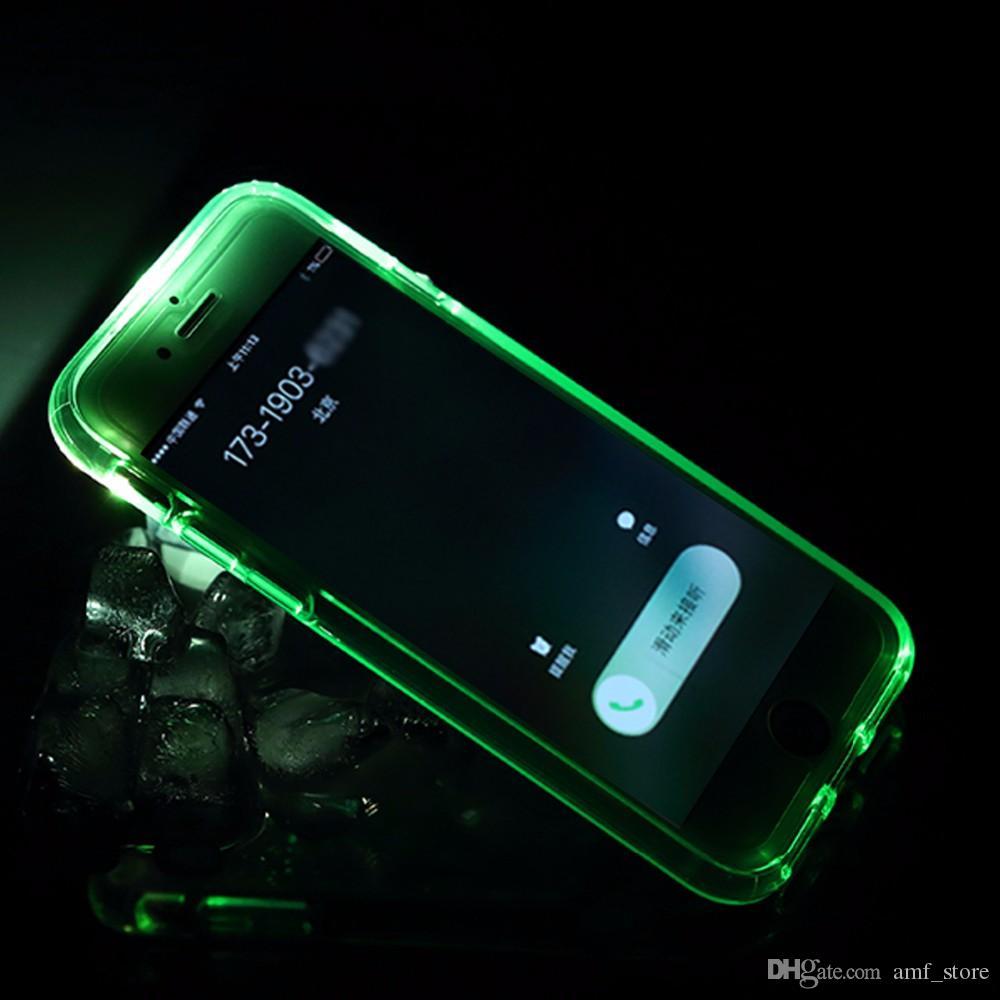 buy online 49953 3143e Led Flash Phone Case for iPhone 7 7 plus Light Flash Calling notice Tube  series phone case