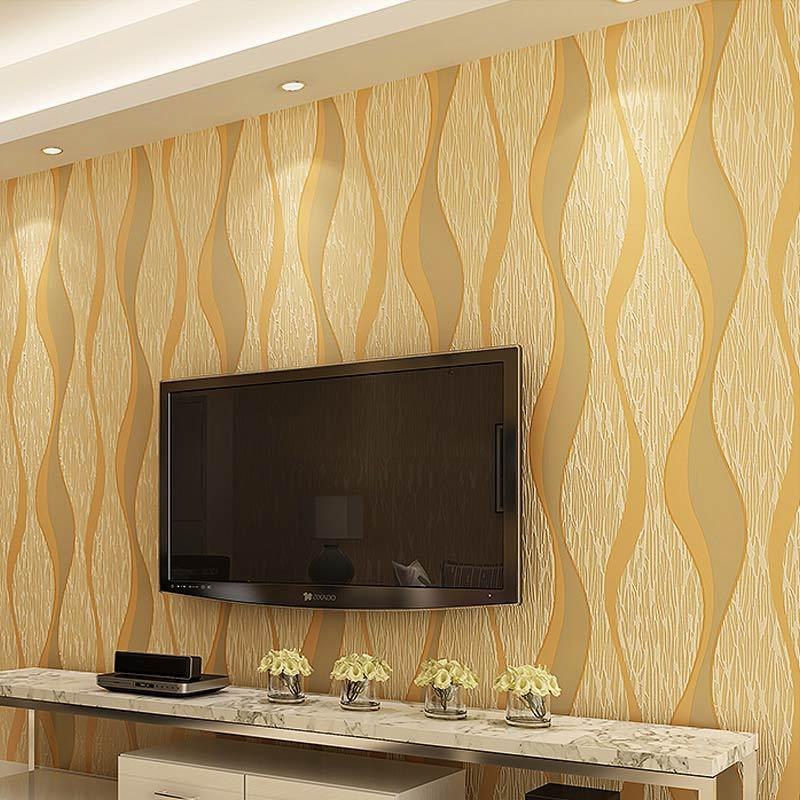 Modern 3d Geometric Curve Designs Non Woven Wallpaper Wallcovering ...