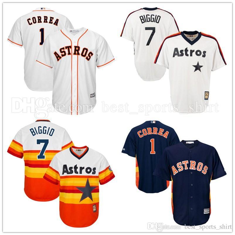535342c06 ... mens houston astros baseball jerseys 7 craig biggio 1 carlos correa  majestic white home cool base