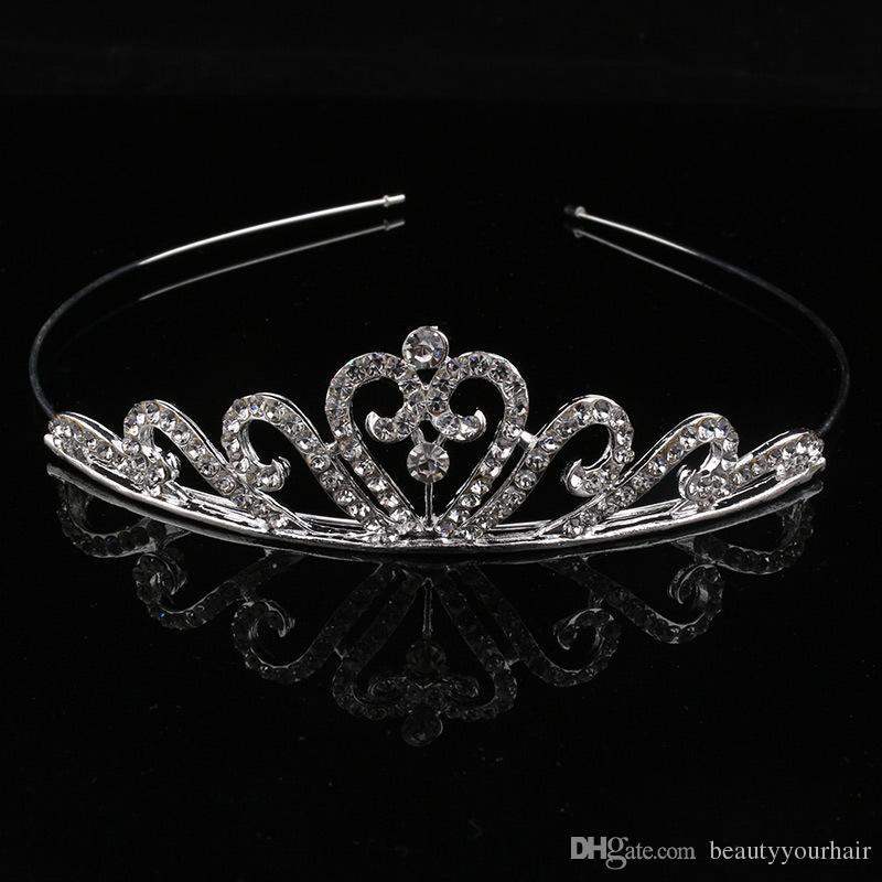 Children Girls Crystal Tiaras Crown Rhinestone Headband Hair Bands Baby Party Jewelry Hair Accessories Princess Crystal Tiaras Headdress