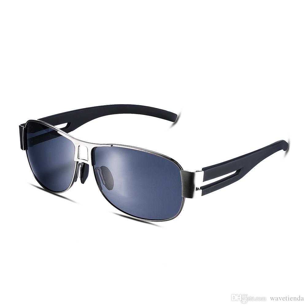 Compre Las Gafas De Sol Polarizadas De Los Hombres Borde Cuadrado ...