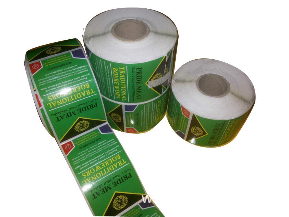 Пользовательские пищевые пакет нетоксичная бумажная клейкая этикетка наклейка пластиковых банок упаковка самозанятия наклейки CMYK красочные прокатки