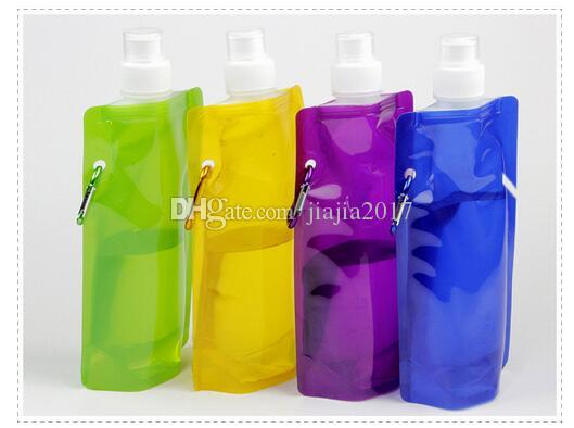 Water Bottle Comes Flat Foldable Water Bottle Collapsible 0.48 Litres Anti-Bottle DHL Fedex