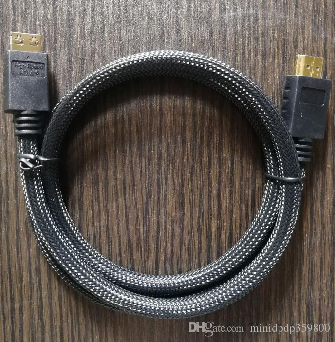 Prevent off 2.0V 5FT HDMI Cable con Ethernet HDMI maschio a maschio Cavo 2.0 V 3D 1080P 4K * 2K HDMI Cable 1.5MCard annuendo High voltageBatch OEM