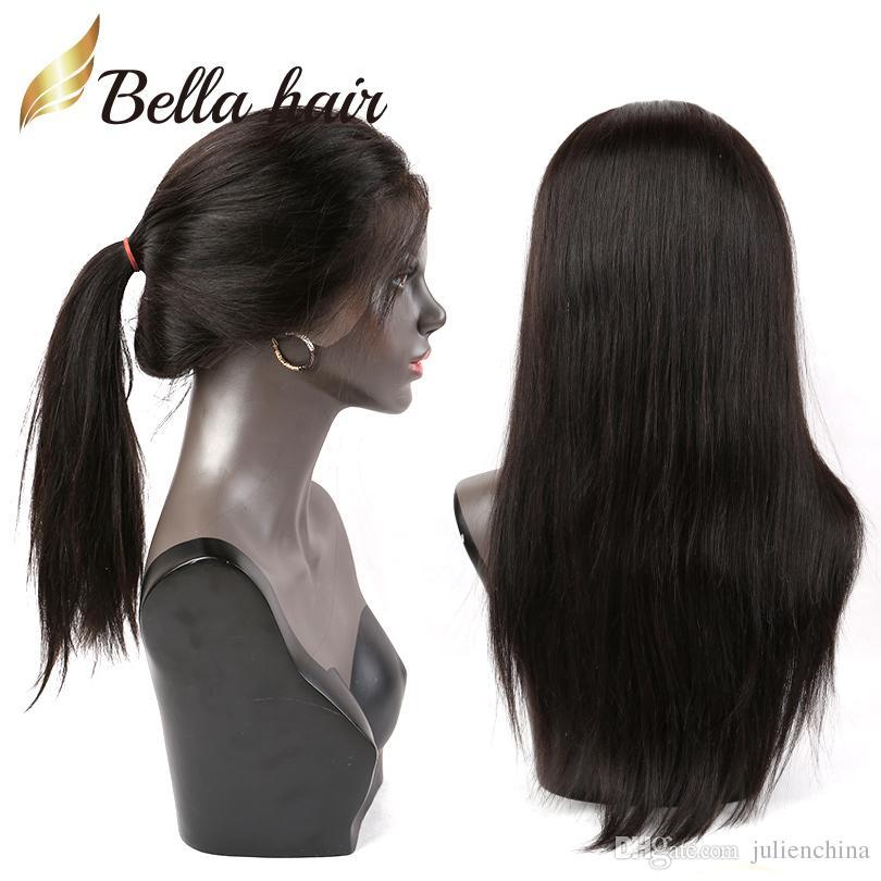 Gerade Haarperücke 360 Spitze Perücke 130% 150% 180% Dichte Jungfrau Menschliches Haar Perücken Seidige gerade Bella Haar Julielenchina