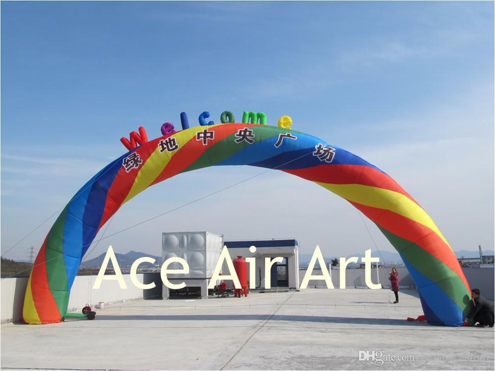 Arco gonfiabile arcobaleno colorato rotondo decorazione matrimonio / decorazione di nozze o affitto di un evento
