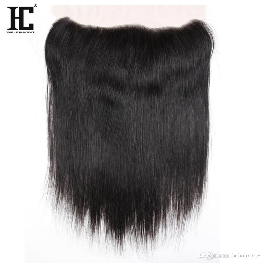 HC Hair Brazilian Virgin Human Hair 13*4 Lace Frontal With 2 Bundles Unprocessed Brazilian Straight Hair With Frontal Closure Weave Natural