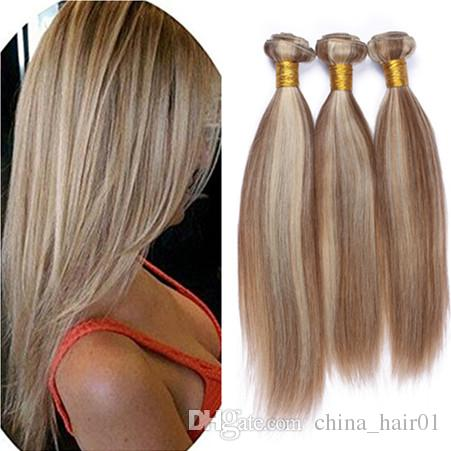 2019 Mixed Color Brown Blonde Ombre 100 Human Hair Best Brazilian
