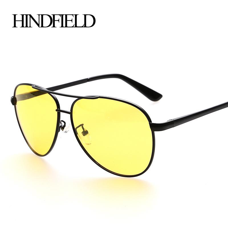 121c37f500 Wholesale HINDFIELD Night Vision Goggle SunGlasses UV400 Polarized Night  Driving Glasses For Men Driver Anti Glare Glasses Sport Eyewear Black  Sunglasses ...