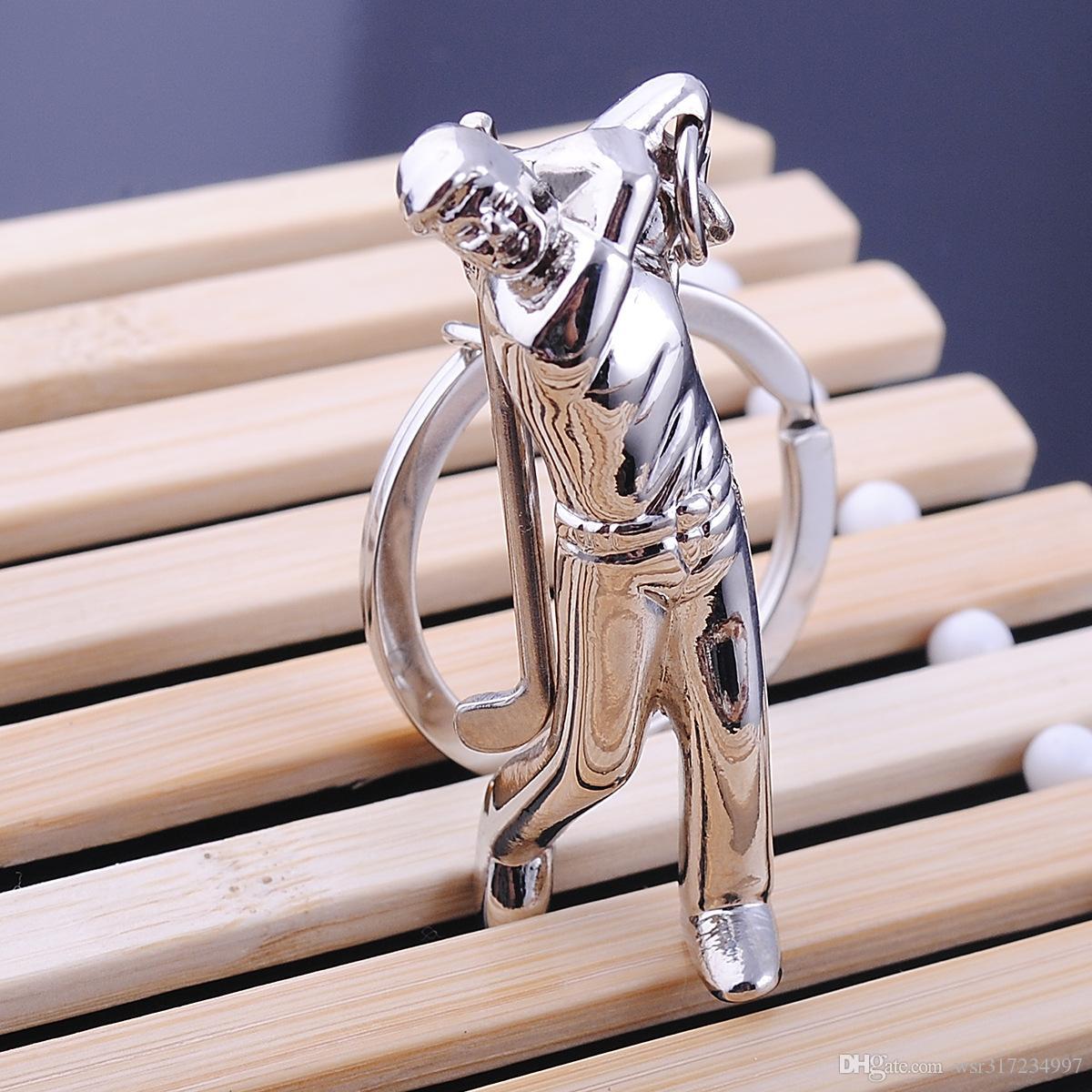 Nouveau Caming golf athlète porte-clés sport souvenir cadeau porte-clés pour les clés de voiture clé pendentif mode sportif porte-clés livraison gratuite