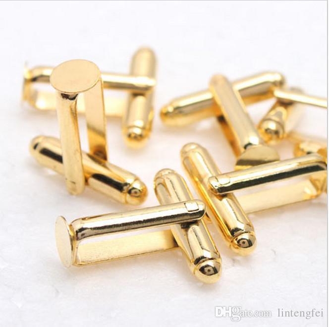 6MM 커프스 단추 쟁반 모조 로듐 도금 한 구리 프랑스어 커프스 단추 공백 커프스 단추는 스티커 또는 카보 숑을 위해 적합 6mm를 역행시킨다