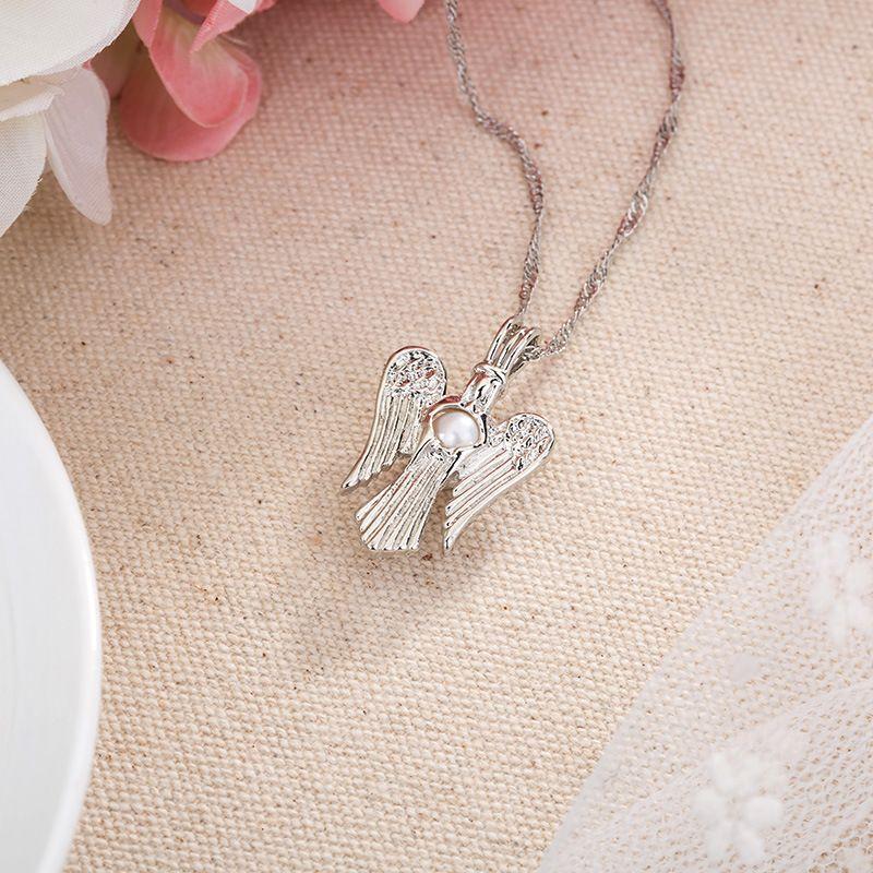 Клетка ожерелье 2018 Новый любовь желание натуральный жемчуг с Oyster Pearl Mix дизайн мода полые медальон ключицы цепи ожерелье Оптовая