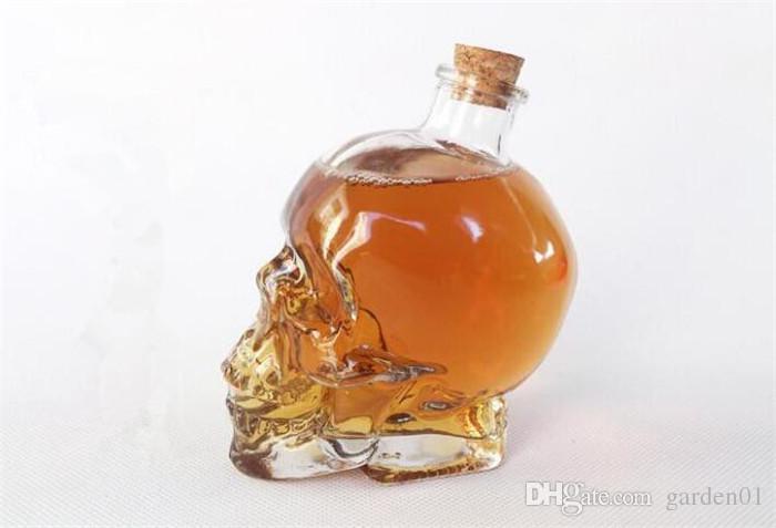 Skull Drinking Glasses Vodka Whiskey Shot Creative Style Drinking Bottles Home Bar Glasses Drink Cocktail Beer Crystal Cups G060