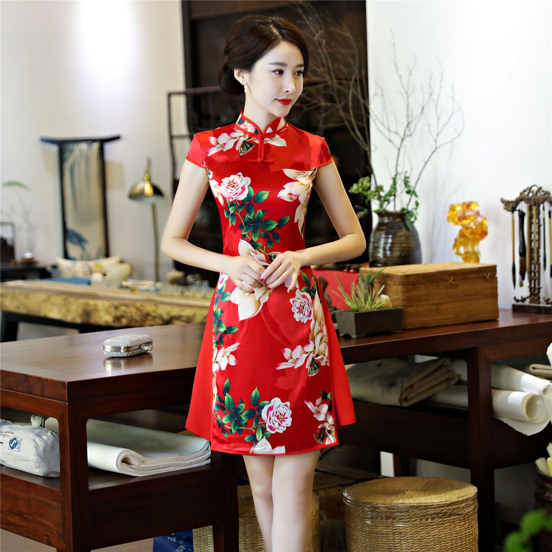 Acheter Courte Story Robe Shanghai Soie Jupe Folklorique Fausse 7gbYyfv6