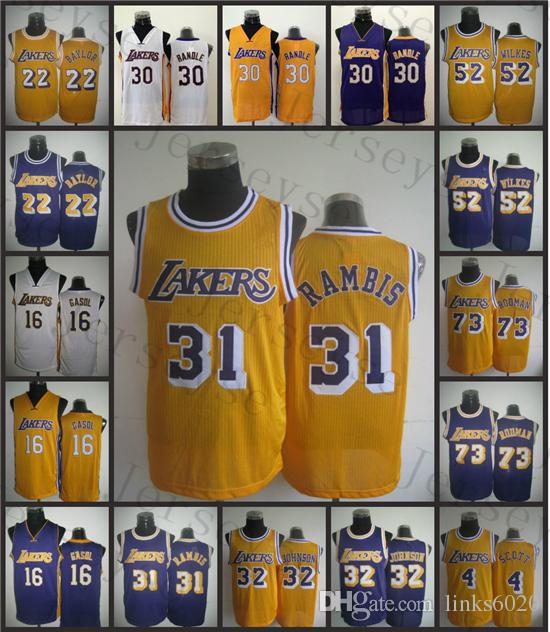 ... nba jersey 59b08 ebbce where can i buy 2017 los angeles shirts  basketball men youth lakers22 elgin baylor16 pau gasol ... f7722c97b