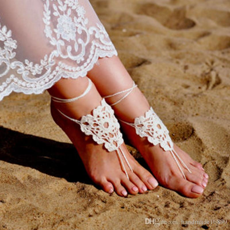 591fef2341323 Crochet Barefoot Sandals, Foot jewelry, Bridesmaid gift, Barefoot sandles,  Beach shoes, Anklet, Wedding shoes, Beach Wedding, Summer yarn