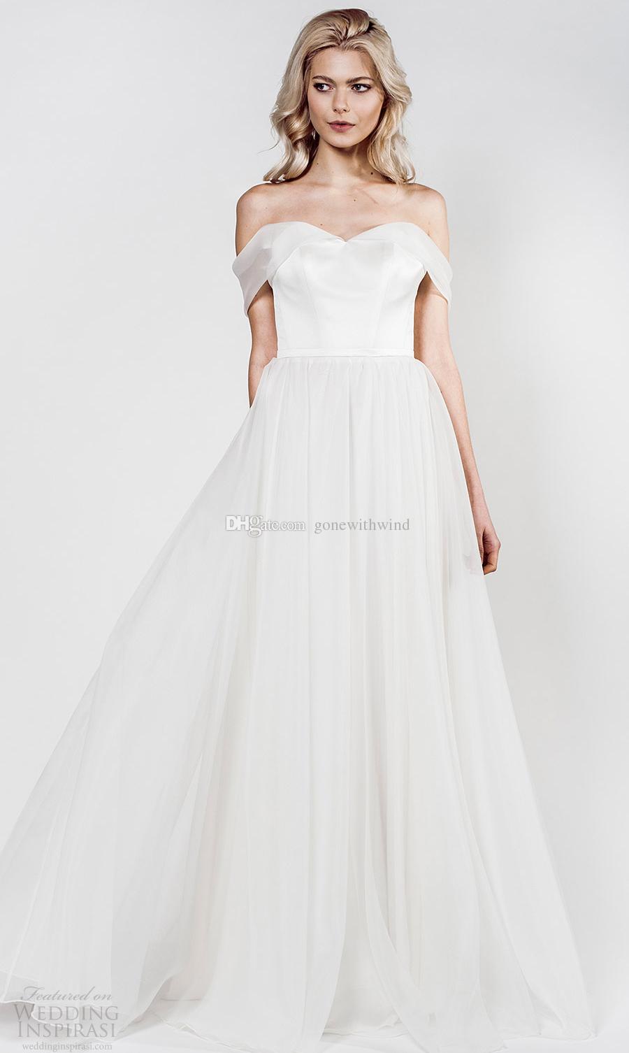 Simple White Ball Gown Wedding Dresses 2017 Aida Kapociute Bridal ...