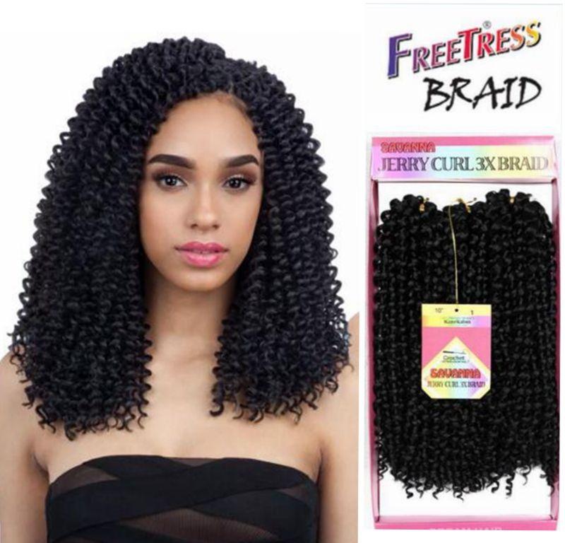 2019 Ombre Braiding Hair Bundles Crochet Braids Freetress Bohemian