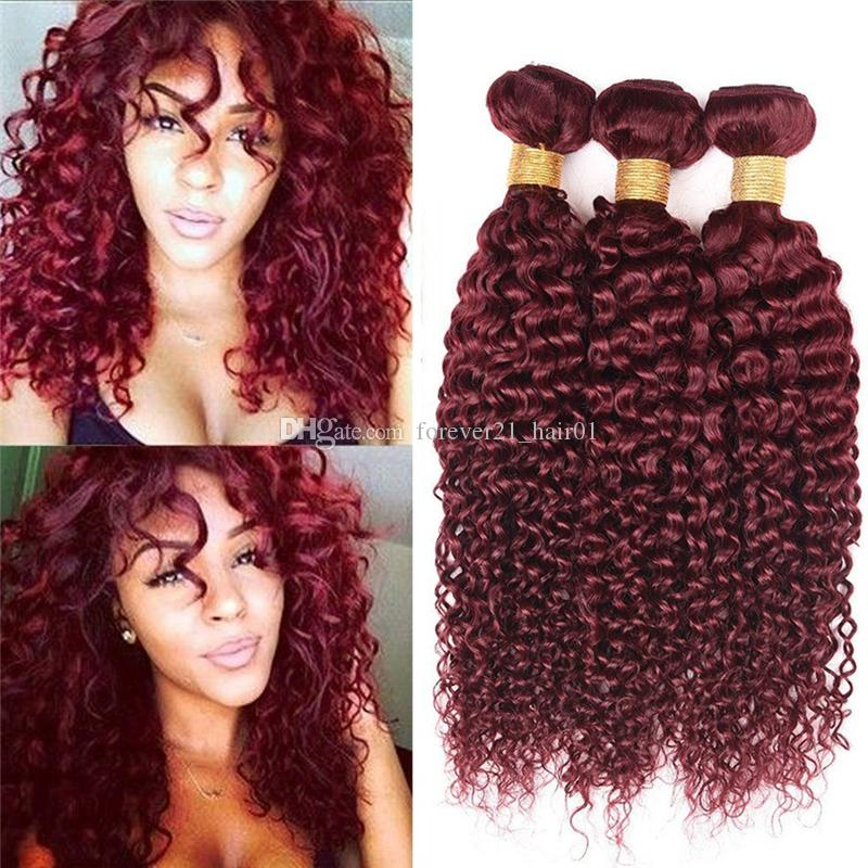 2018 8a grade color 99j burgundy kinky curly hair bundles wine red 2018 8a grade color 99j burgundy kinky curly hair bundles wine red curly human hair weaves 99j hair extensions dhl free from forever21hair01 pmusecretfo Image collections