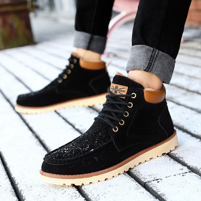 Women Casual Dress Boots Snow Winter Low-Heel Boots Big Size (US9/Chinese41)