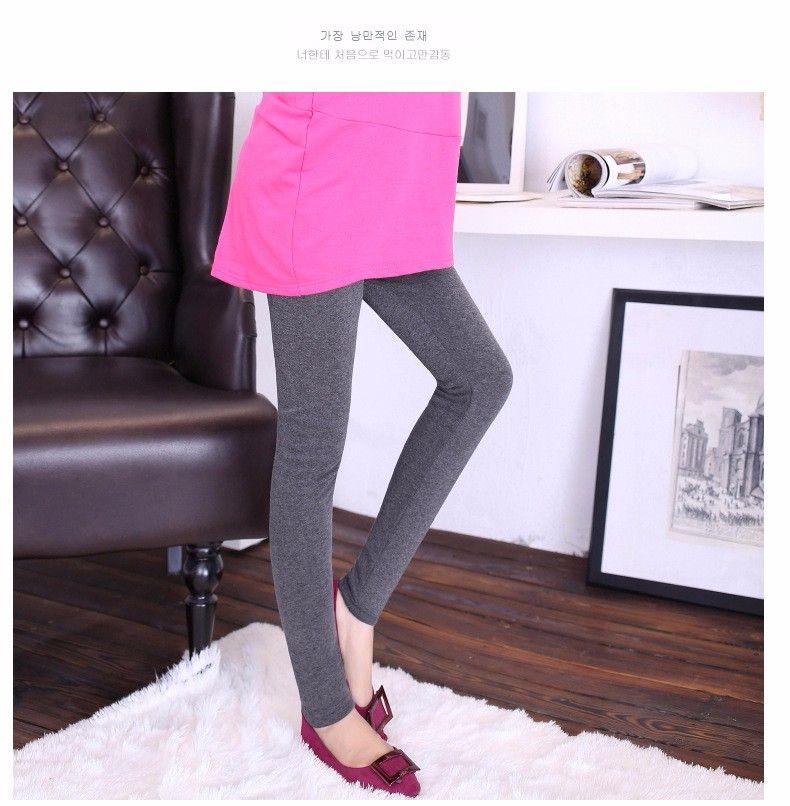 2d48b9028 Compre Algodón + Poliéster Invierno Mujer Engrosada Con Terciopelo Leggings  Alta Cintura Elástico Maternidad Leggings Pantalones Calientes Pantalones  Para ...