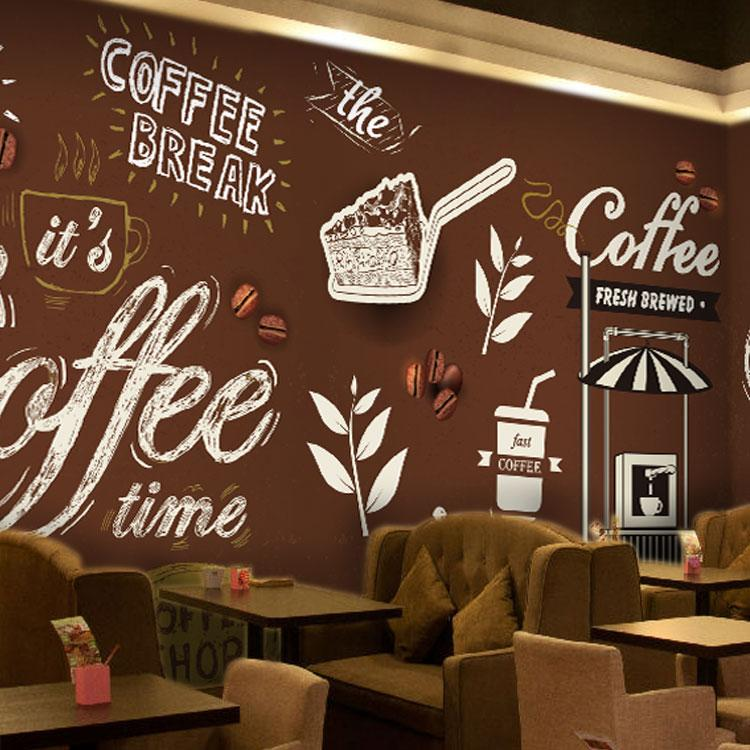 Cafe tea shop ice cream wallpaper background wallpaper for Cafe mural wallpaper