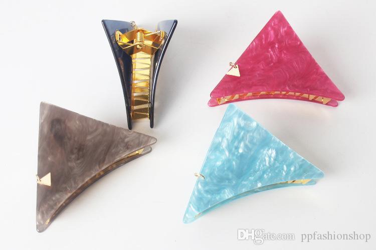 2017 qualità nuovo tornante ornamenti capelli triangolare metallo denti Giappone acido acetico piastra inchiostro inchiostro smeraldo catturato cartella