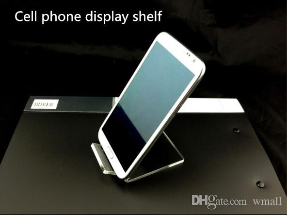 Acrylic Cell phone mobile phone display stand shelf mounts Holder for 6inch iphone samsung HTC phone at good price free DHL