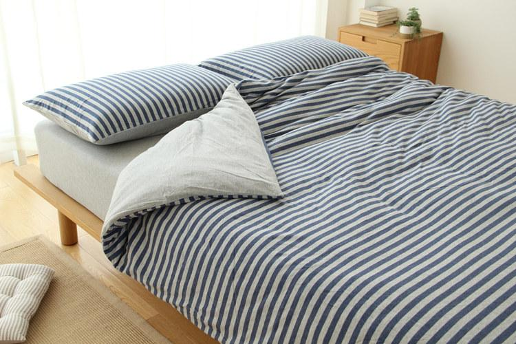 juego de sábanas de hometextil con sábanas ajustadas y sábanas de raya de tela kintted con diseños en colores sólidos decration simple
