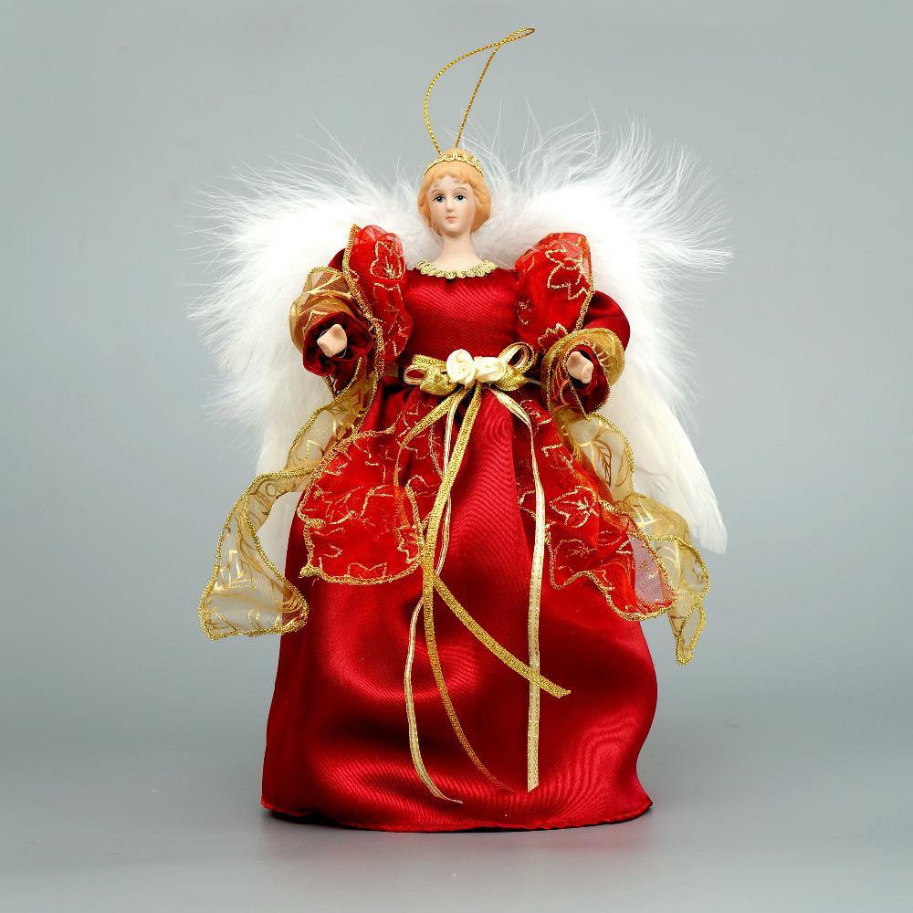 Wholesale Cosette Christmas Tree Topper Angel Decoration Home Ornament Porcelain Doll 10 Decorations Cheap From