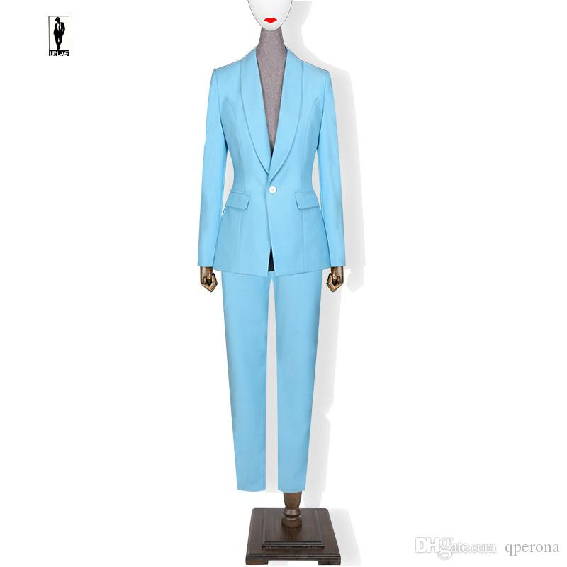 2019 Ur 78 Sky Blue New Bussiness Formal Elegant Women Suit Set