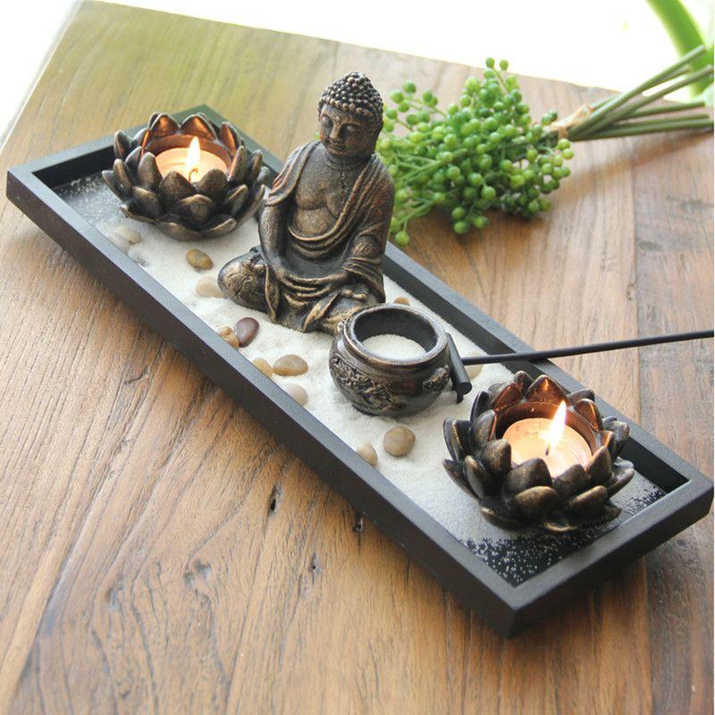 Großhandel Buddha Lotus Kerzenhalter Kreative Traditionellen Chinesischen  Stil Flowerssand Tisch Kerzenhalter Buddhist Dekorative Kunst Arbeiten Von  ...
