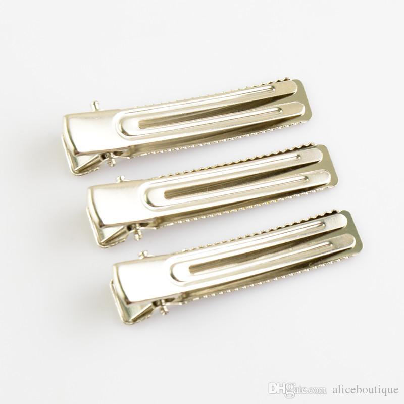 Envío gratis 100 unids / lote Nuevos niños Niñas Clip de Cocodrilo de Metal de Plata Pinzas Para el Cabello Pato boca abrazadera Accesorio de Pelo FJ06