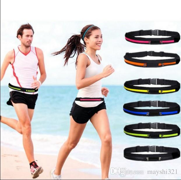 Waterproof reflective running belts phone holder bag mini pockets anti-theft personal invisible casual waist belt pocket for iphone