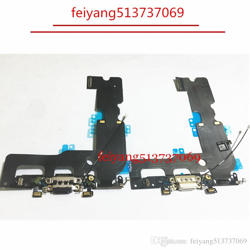 pick up 4f94e a196e 10pcs OEM Charger Charging Port USB Dock Connector For iPhone 7 7G /7 plus  Headphone Audio Jack Flex Cable