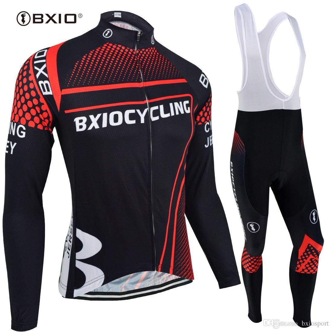 Brand Pro Team 3D Gel Pad Cycling Jerseys BXIO Winter Thermal Fleece ... 09e5a0a84