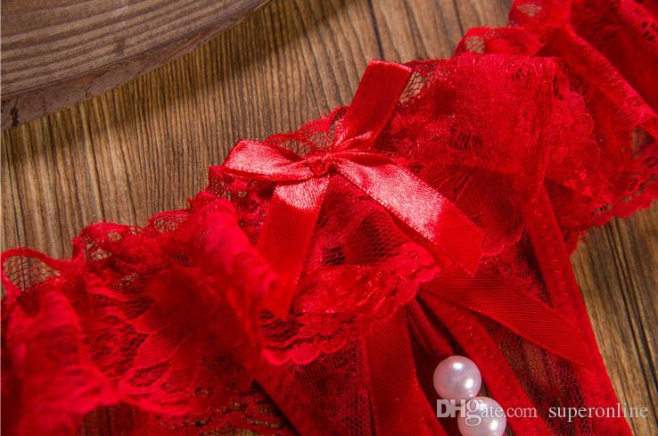مثير الملابس الداخلية لؤلؤة الدانتيل الديكور سراويل زهرة بيكيني ثونغ g- سلسلة t- سراويل سراويل داخلية سراويل السيدات النساء الملابس الداخلية الحميمة