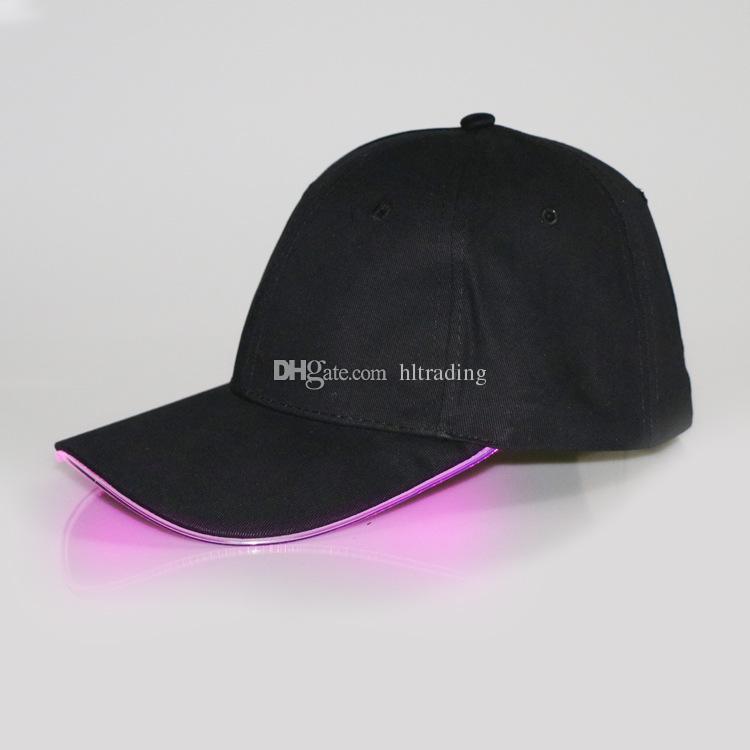 Хэллоуин большой детей человек женщина Светодиодные Cap хлопок Бейсбол шляпу моды Светящиеся пика Cap DHL C2563