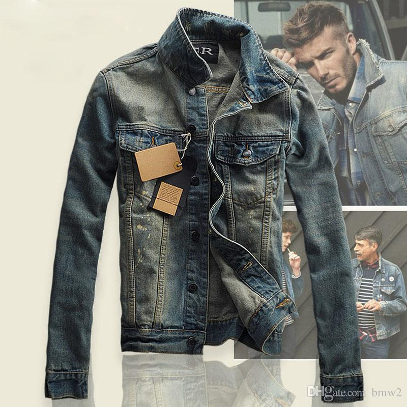 b2c3c97e8e890 Compre Jaqueta Jeans Homens Slim Fit Jaqueta E Casaco Dos Homens Do Vintage  Top Quality Moda Jeans Casuais Jaquetas Novas Jeans Ao Ar Livre Roupas De  Bmw2