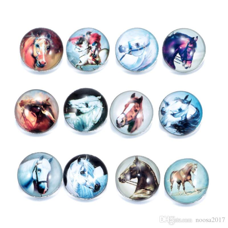 Großhandel Neue 18mm Ginger Snaps Taste Glas Kristall Taste Tier serie Zebra kaninchen Muster Fit Charme Armbänder DIY Schmuck noosa chunks
