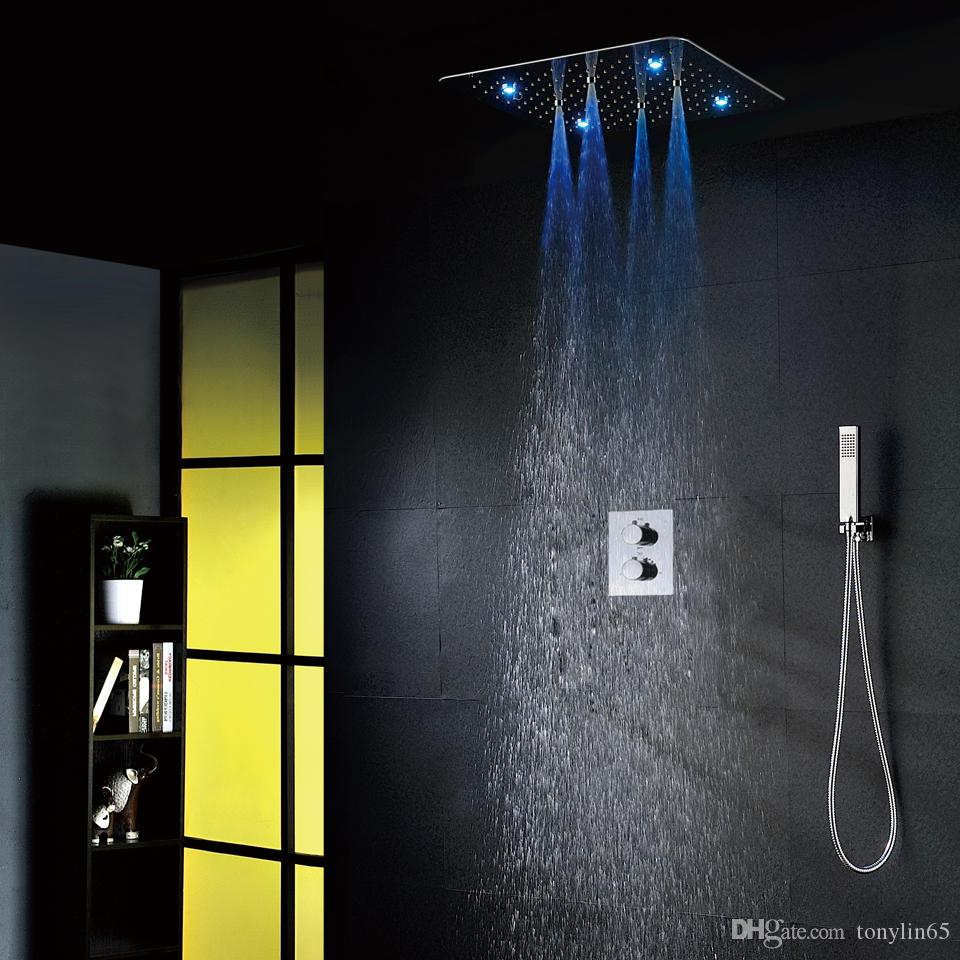 2018 Luxury Bathroom Shower Faucet Set 20 Inch Rain Showers With ...
