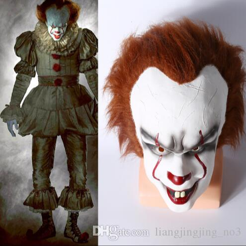 halloween christmas mask toy pennywise costume it the movie by stephen king it scary clown mask menu0027s cosplay prop party mask cca7528 50pcs